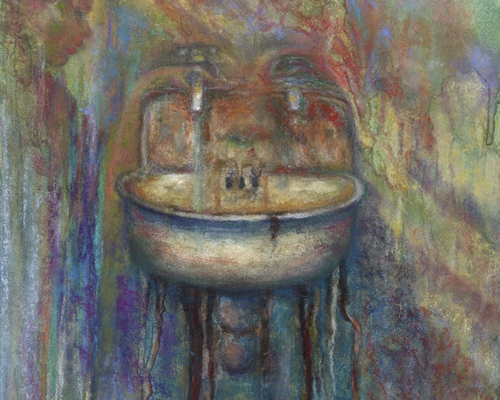 Getting Clean, Original Painting by Kim Novak