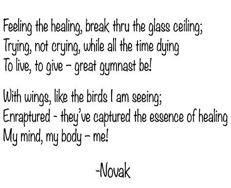 The Ecstasy and Agony of Healing, original poem by Kim Novak ©2020
