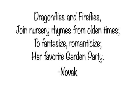 r Garden Party, Original Poem by Kim Novak ©2020